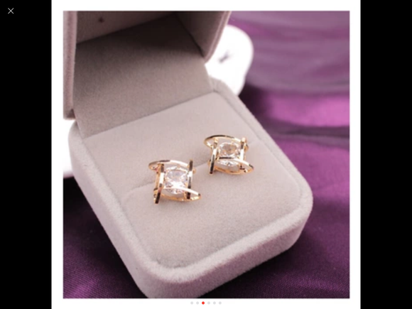 Elegant Crystal, Stud Earrings