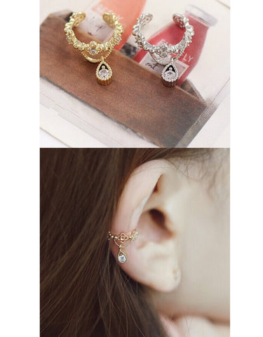 Waterdrop, Non piercing Earring.