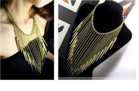 Vintage, Long Tassel Necklace