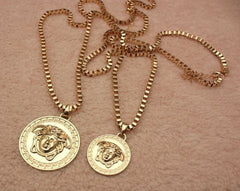 LARGE, UNISEX ,MEDUSA HEAD ,PENDANT CHAIN