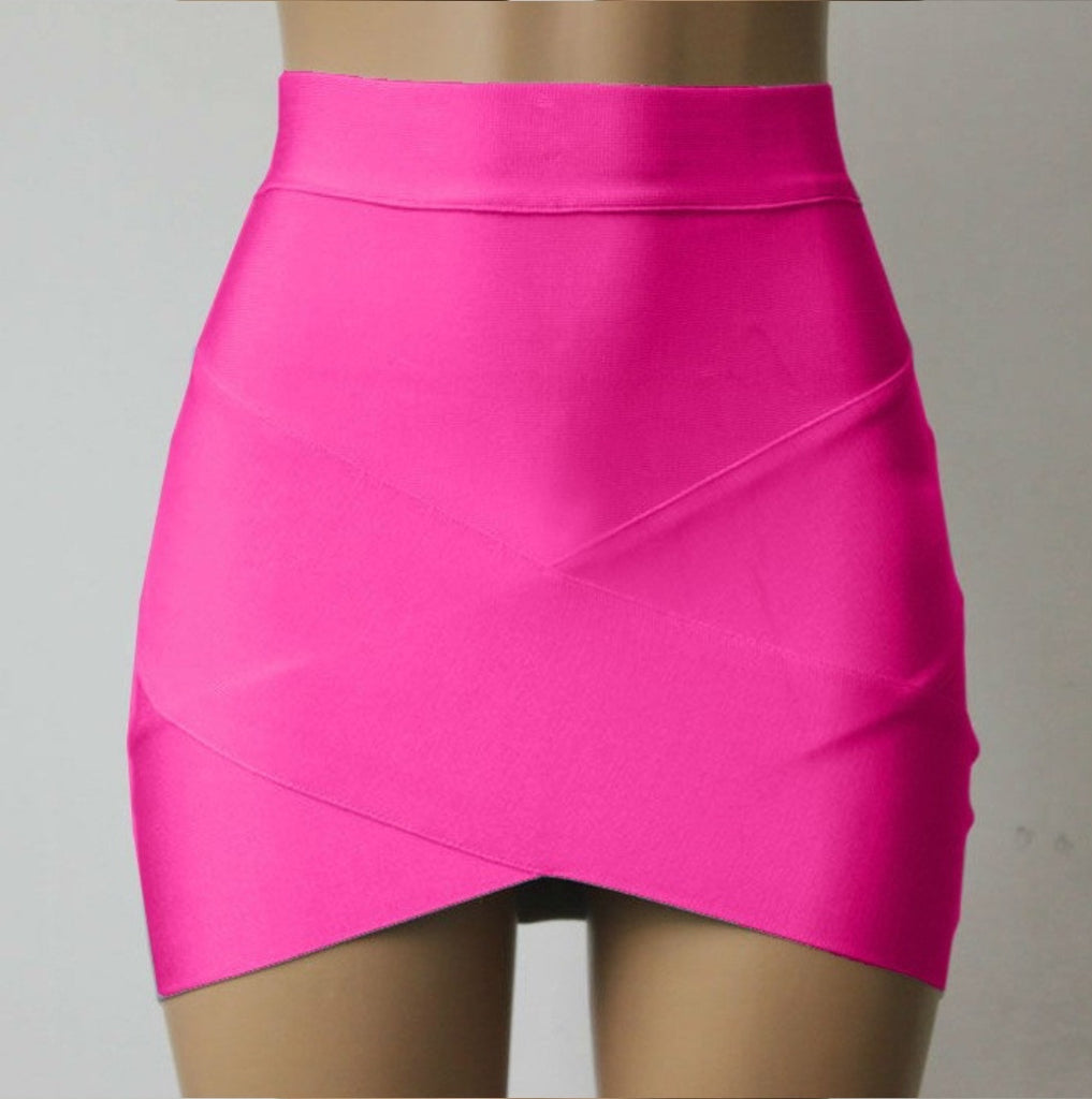 HIGH WAISTED ARCHED HEM SKIRTS