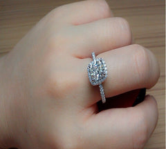 Faux White Sapphire, Engagement Ring