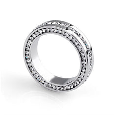 Unisex , Crystal Bezel Setting Ring