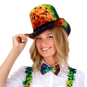 Pixel Rainbow Top Hat