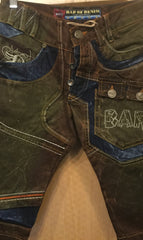 Bar of Denim Paneled Shorts