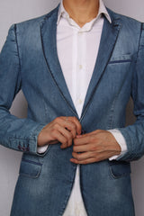 Denim Casual Blazer