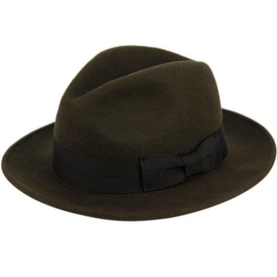 Milano Fedora Hat with Grosgrain Band