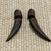 Wooden tusk faux gauges