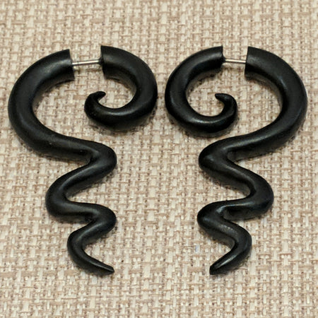 Wooden snakey faux gauges