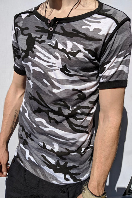 Military Shades of Gray T-Shirt