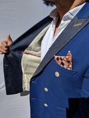 Royal Blue Double Breast Blazer