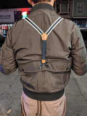 Olive Suspenders Bomber