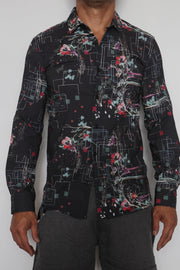 Abstract Organica Button Up