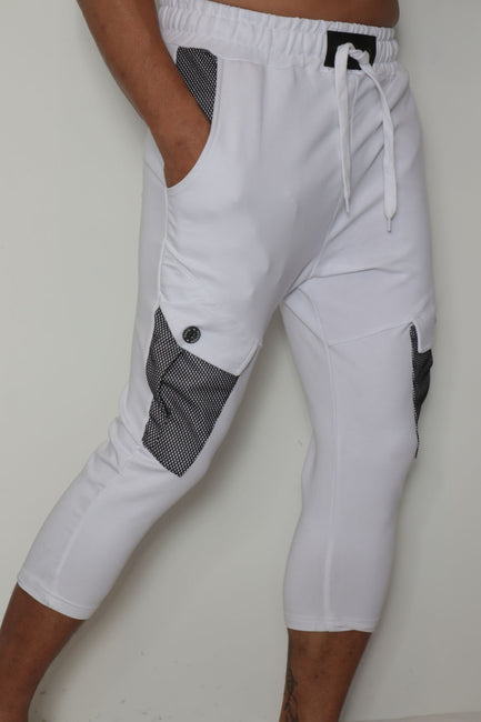 Netted Pocket Jogger Capris