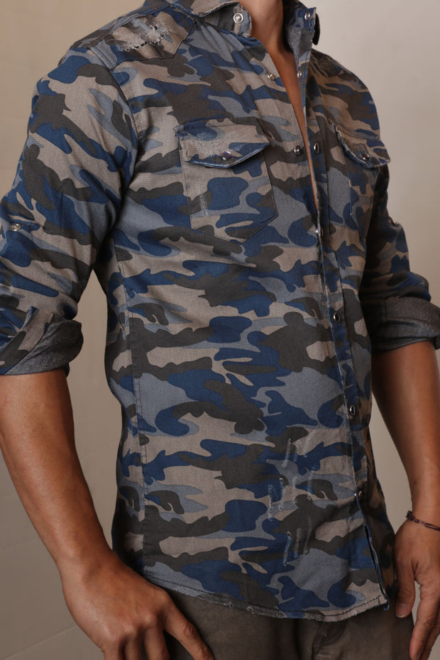 Codebreaker Camo Button Up