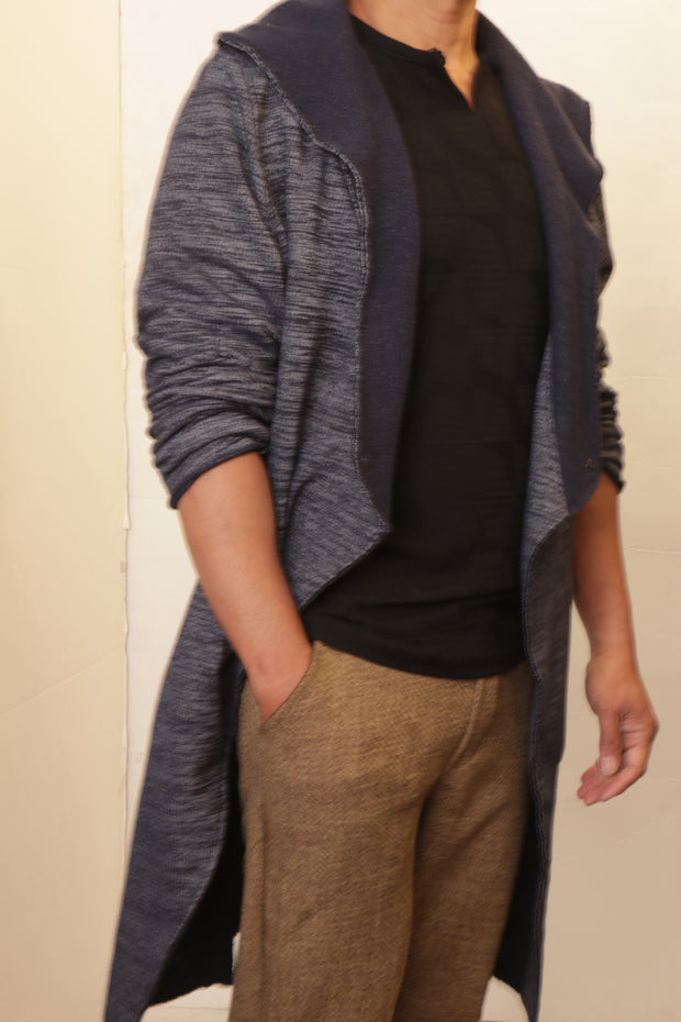 Brushed Graphite Cardigan