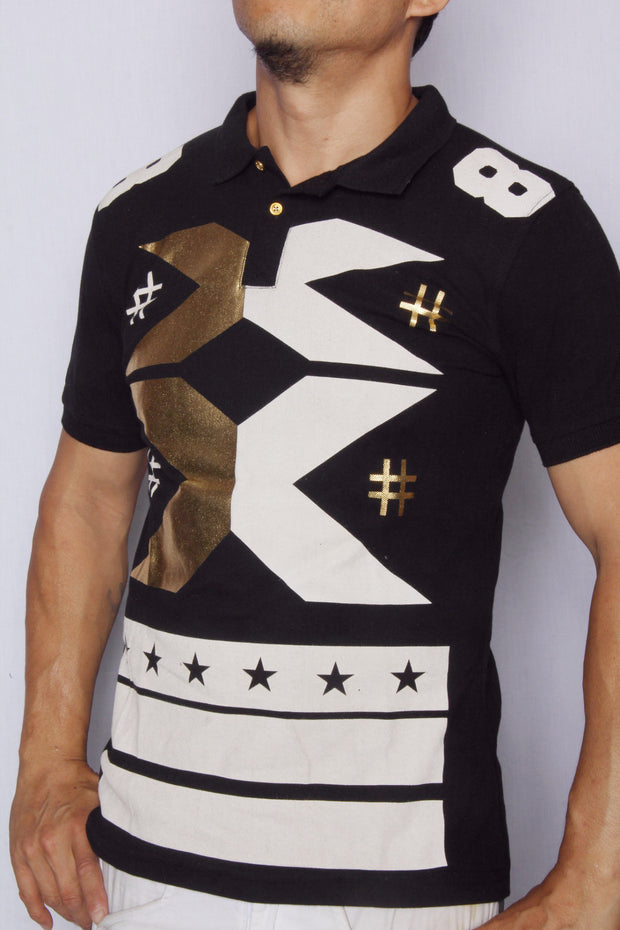 X Marks the Spot Printed Polo