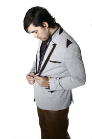 Two Tone Cardigan Blazer