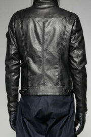 Steampunk Short Gear Leather Coat