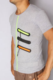 Tri Neon Zipper T-Shirt