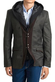 Hooded Tweed Jacket