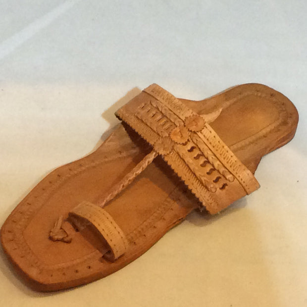 Yellow Leather Rajasthani sandal