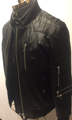 Action Discrete Leather Jacket