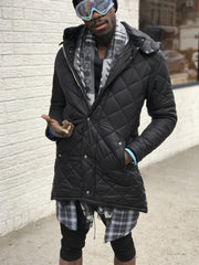 Removable Hoodie Quilted Coat