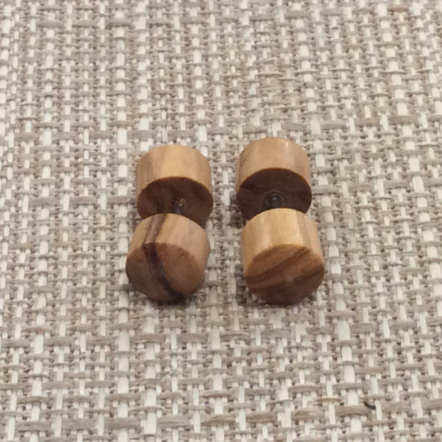 Tigers Eye faux wooden gauges