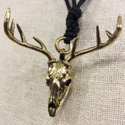 Deer skull necklace