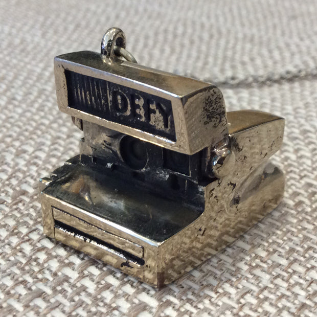 Poloroid Camera Necklace