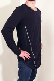 Matrix Zipper Cut Long Sleeve