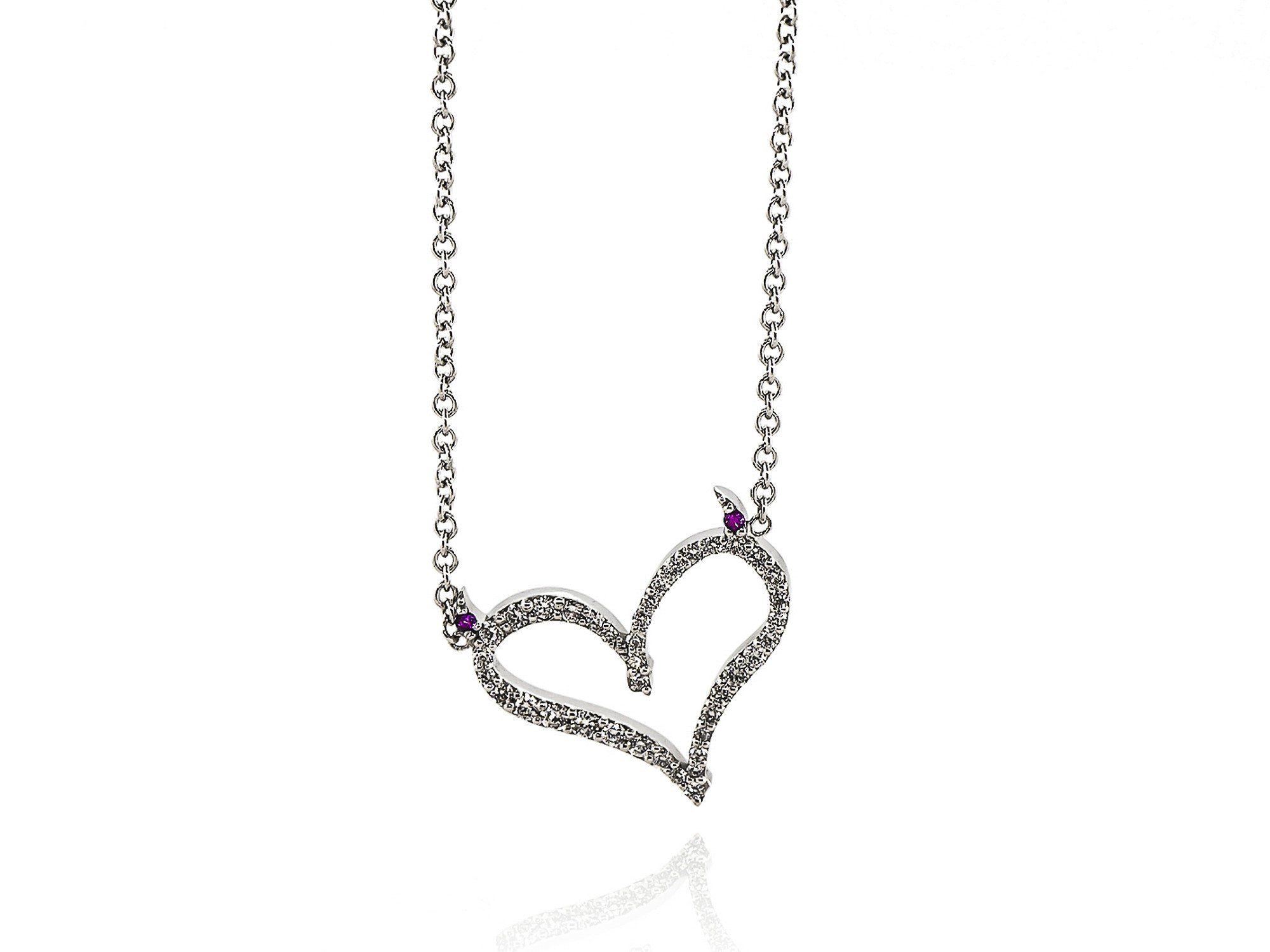 choker necklace silver heart oasis mini ie