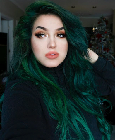 @rachel_doctor Phantom Green Arctic Fox semi permanent hair color