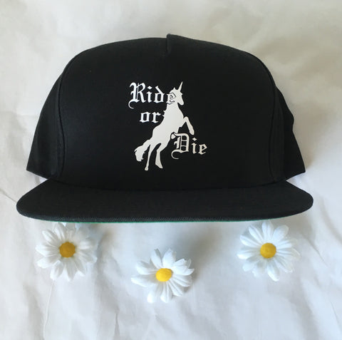 Ride or Die Unicorn Snapback