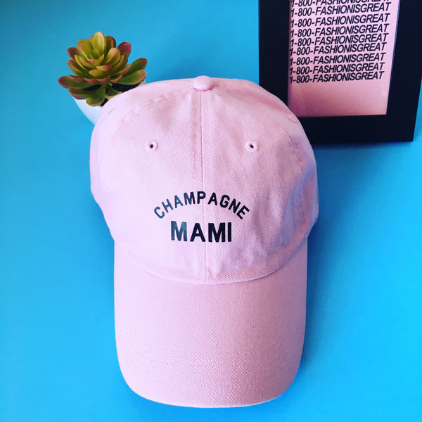 Champagne Mami Dad Hat