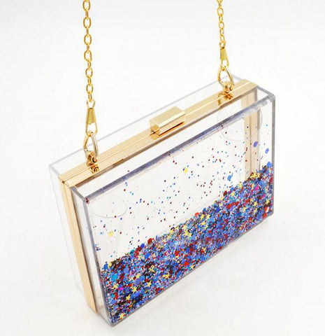 Falling Stars Crossbody Convertible Clutch