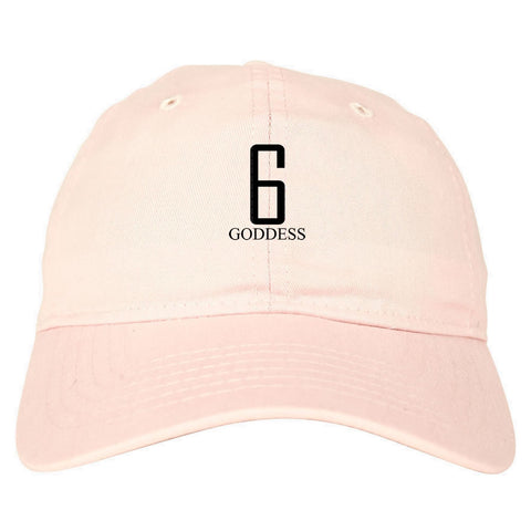 6 Goddess Dad Hat Pink