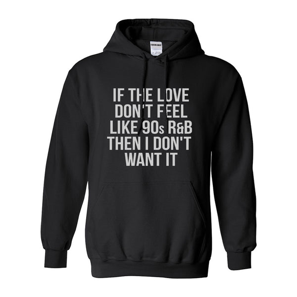 90s RnB Love Black Womens Pullover Hoodie