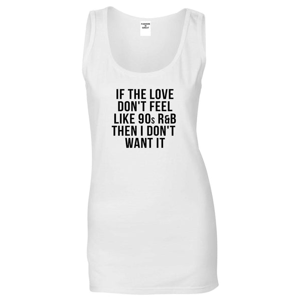 90s RnB Love White Womens Tank Top
