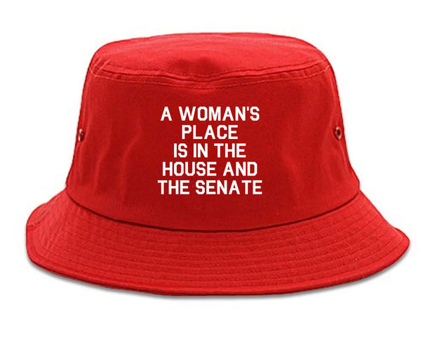 A Womans Place Is In The House And The Senate Red Bucket Hat