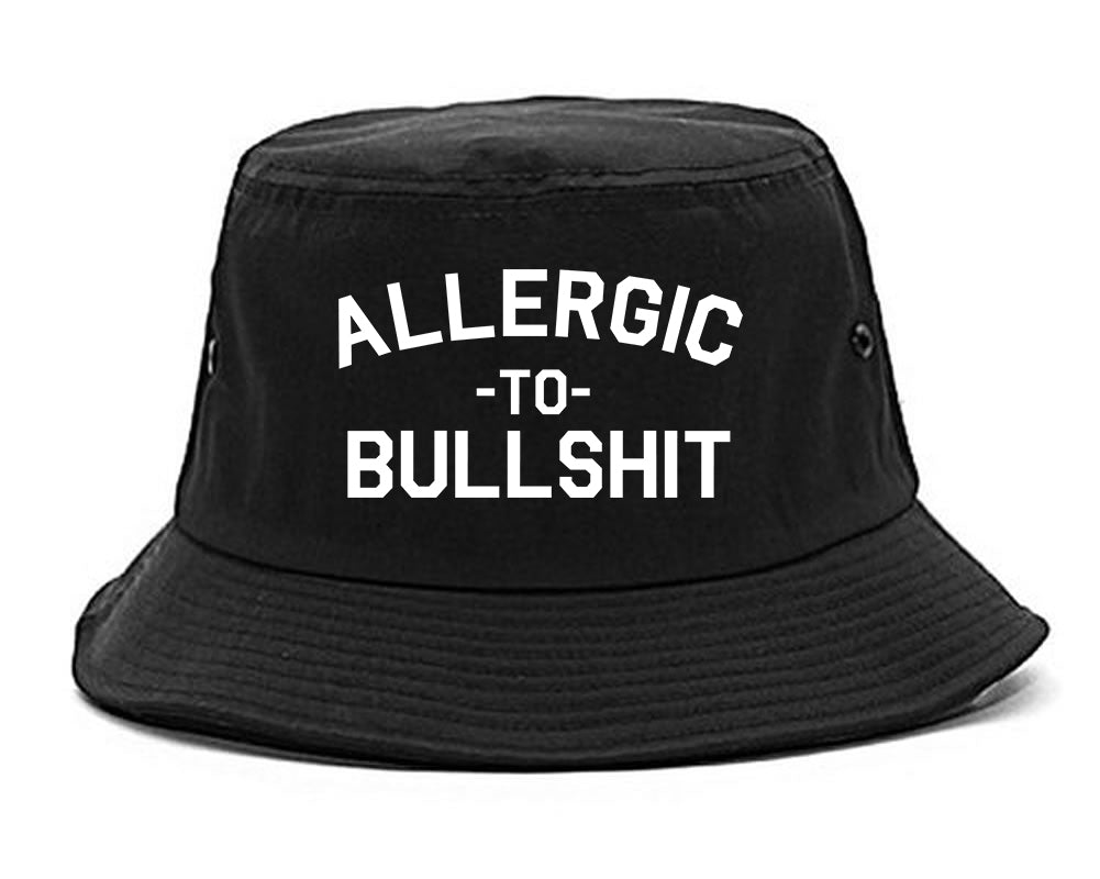 Allergic To Bullshit Funny black Bucket Hat