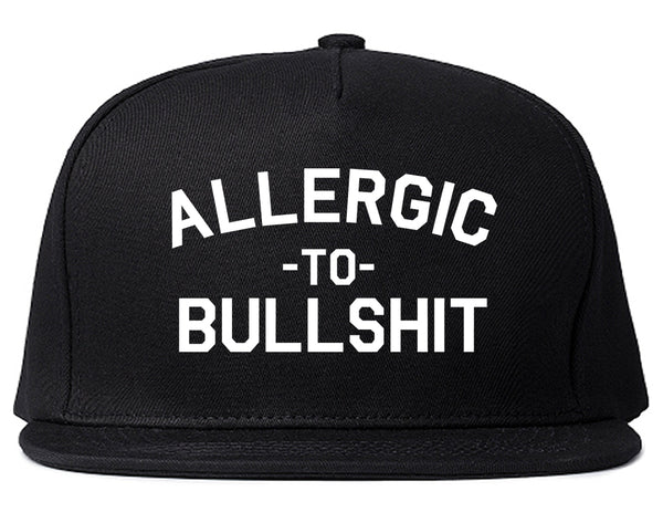 Allergic To Bullshit Funny Black Snapback Hat