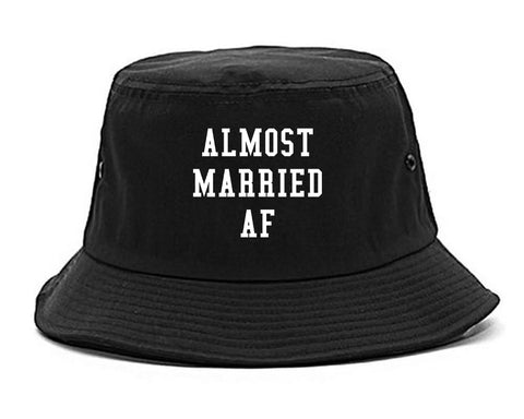 Almost Married AF Engaged black Bucket Hat