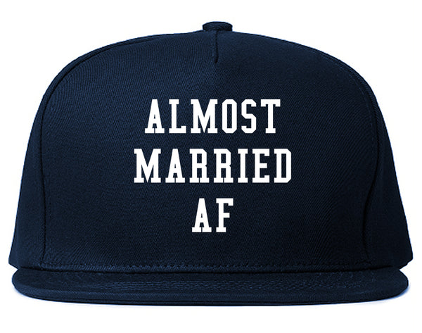 Almost Married AF Engaged Blue Snapback Hat