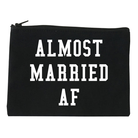 Almost Married AF Engaged black Makeup Bag