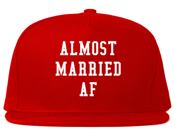 Almost Married AF Engaged Red Snapback Hat