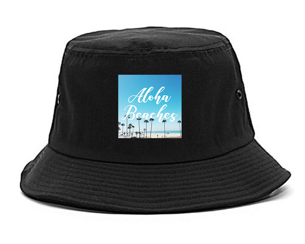 Aloha Beaches Beach View black Bucket Hat