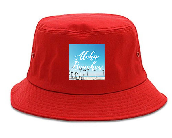 Aloha Beaches Beach View red Bucket Hat