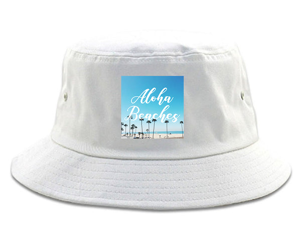 Aloha Beaches Beach View white Bucket Hat